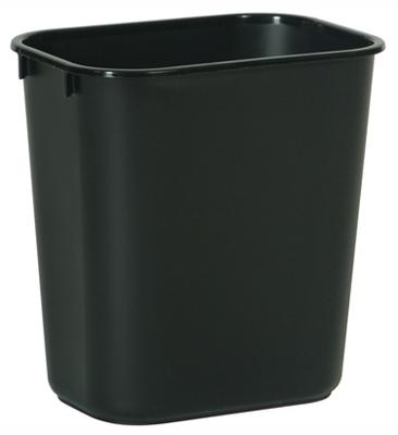 28QT BLK Wastebasket - Woods Hardware