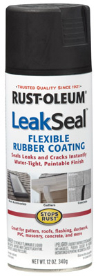 12OZ BLK LeakSeal Spray - Woods Hardware