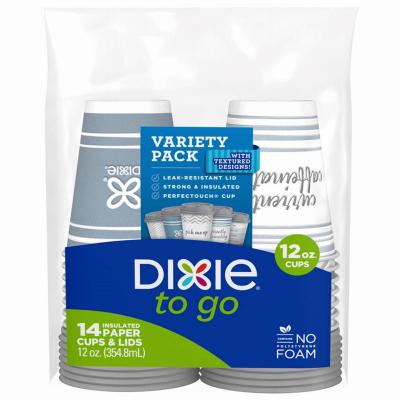 Dixie 14PK 12OZ Cup/Lid