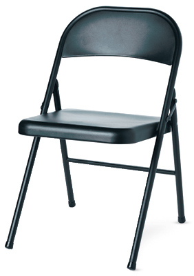 BLK STL Folding Chair