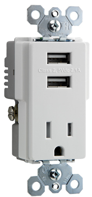 15A Combo USB Charger - Woods Hardware