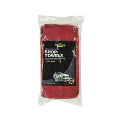 25PK RED Shop Towel