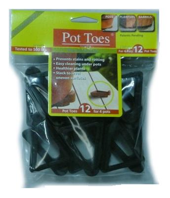 """12PK 3"""" BLK Pot Toes"""