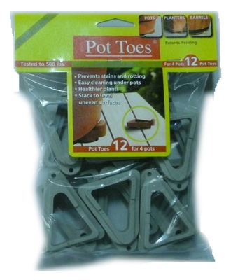 "12PK 3"" GRY Pot Toes"