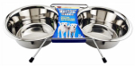 WESTMINSTER PET PRODUCTS 19432 QT, Stainless Steel Double Diner Raised Pet Bowls, For Food