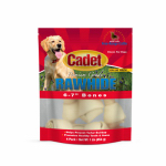 """IMS TRADING CORP C10003 4 Pack, 6""""-7"""", Natural Rawhide Bone, Promotes Healthy Gums &"""