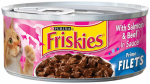 AMERICAN DISTRIBUTION & MFG CO 10043 Friskies, 5.5 OZ, Prime Filet Salmon & Beef Kitten Food