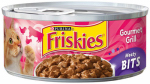 AMERICAN DISTRIBUTION & MFG CO 42054 Friskies, 5.5 Oz, Meaty Bits Gourmet Grill Cat Food, Complete