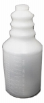 IMPACT PRODUCTS INC 5032HG-90 32 OZ, Natural, Plastic, Handi-Hold Bottle, With Graduations, Dilution Ratios