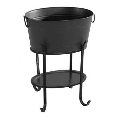 BLK STL Party Tub