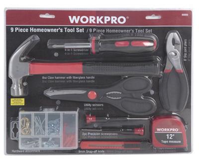 9PC Homeowner Tool Set