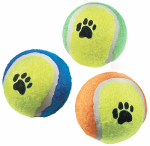 "HANGZHOU TIANYUAN PET PROD YT3502 2.5"", Tennis Ball, Paw Print On Ball, For Playing With"