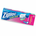 Ziploc Slider Storage Bags, 20-Ct., Qt. Size