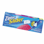 Ziploc Slider Freezer Bags, Qt., 15-Ct.