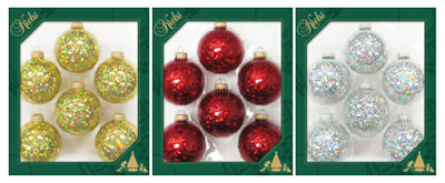 6PK Spangle Ornament