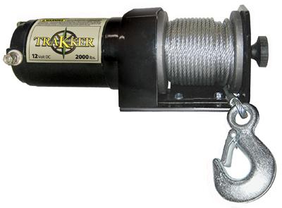 2000LB BLK Elec Winch