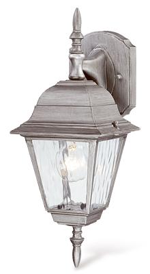 1LGT SLV Wall Lantern