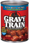 JM SMUCKER RETAIL SALES 00079100524570 Gravy Train, 13.2 OZ, Beef Chunks In Gravy, Dog Food