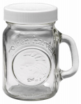 JARDEN HOME BRANDS 40501 4 OZ, Salt & Pepper Glass Shaker, With White Screw