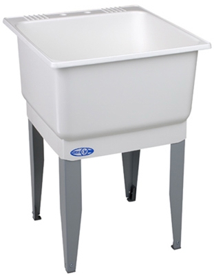 23x25 WHT SGL Laun Tub