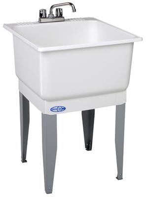 23x25WHT Combo Laun Tub