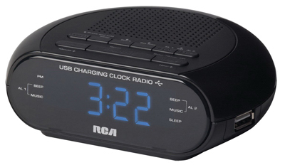 BLK USB Clock Radio