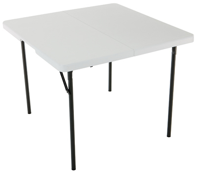 37x37 WHT SQ Fold Table