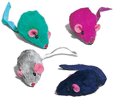 12PK Plush Mice Cat Toy