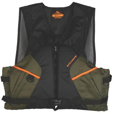 2XL GRN/ORG Fish Vest