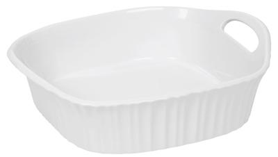 8x8 WHT SQ Baker Dish