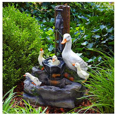 "23""Duck Family Fountain"