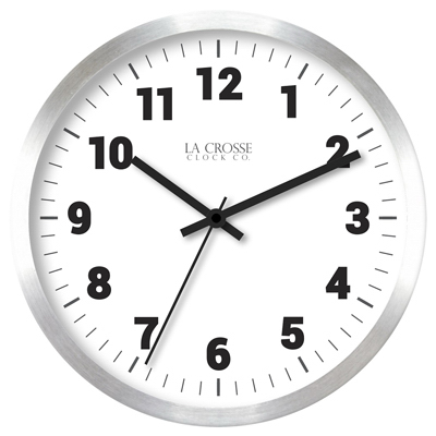 "10"" SLV MTL Wall Clock"