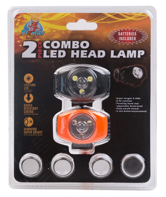 2PK 3LED Head Light - Woods Hardware