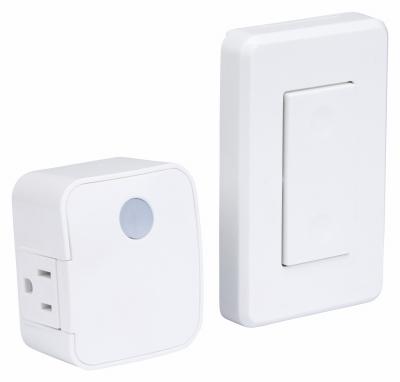 Amertac Westek White Wireless Mountable Wall Switch Plug