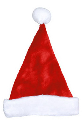 "17"" RED Plush Santa Hat"