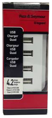 WHT 4 USB Out Charger - Woods Hardware