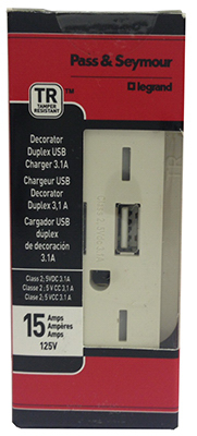 WHT Combo USB Charger - Woods Hardware