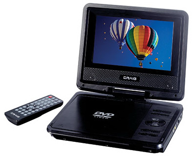 "7"" DVD/CD Player/RC"