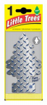 CAR FRESHNER CORP U1P-17152 Little Trees, Pure Steel Air Freshener, Diamond Tread Pattern, Pine