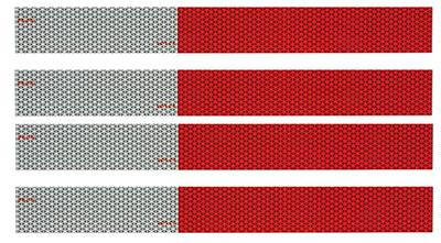 """4PK 12"""" RED/SLV Tape"""