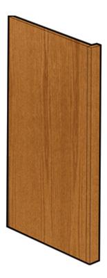 Oak Dishwash End Panel