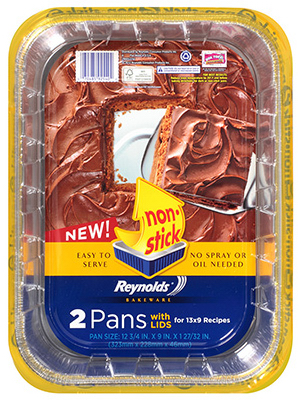 2PK 13x9x2 Cake Pan/Lid