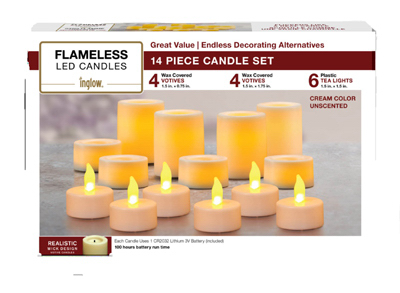 14PC Flameles Candl Set