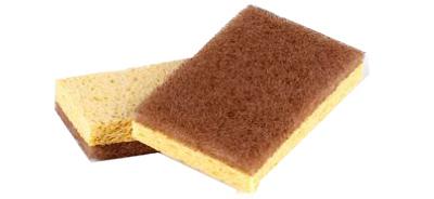 2PK Waln Scubber Sponge