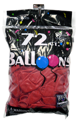 72CT Cherry RED Balloon