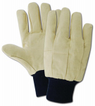 MAGID GLOVE & SAFETY MFG. CH84T Large, Long Wearing Cotton Canvas Glove, With Blue Knit Wrist