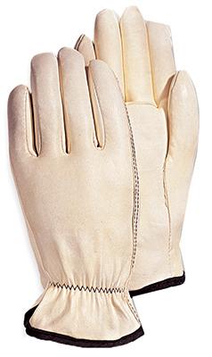 MED WHT Goatskin Glove