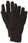 MAGID GLOVE & SAFETY MFG. T905CT Small, Full Size, Brown Jersey Glove, With Knit Wrist Cuff