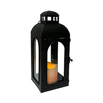 "11"" BLK MTL Lantern"