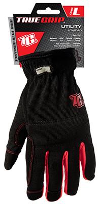 LG BLK/RED Util Glove